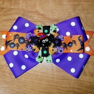 Other - 2/$20 Halloween spider hairbow